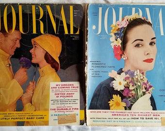 Vintage March & April 1957 Ladies Home Journal Magazine