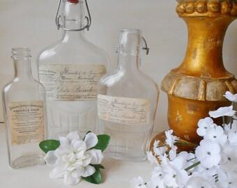 Vintage & New Bottles Altered French Labels 3 Set