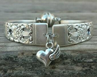 Charming Antique  Silverware Bracelet Dated 1936