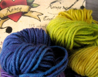 PunchDrunk and GoldenGreen on Kama sock yarn