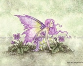 5x7 Violet Fae fairy PRINT by Amy Brown