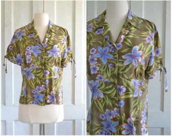 90s does 40s Rayon Blouse