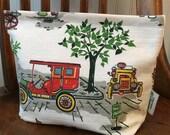 Vintage Bark Cloth Storage/Sandwich Bag-Reusable