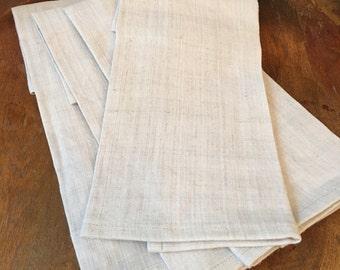 Antique French Linen Napkins ( set of 4)