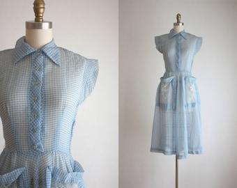 1950s sheer spring dress