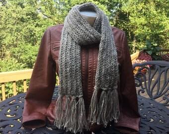 Hand knit 100% Llama Scarf