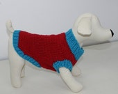 HALF PRICE SALE madmonkeyknits - Simple Chunky Dog Coat knitting pattern pdf download - Instant Digital File pdf knitting pattern
