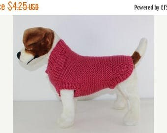 50% OFF SALE Chunky Garter Stitch Dog Coat knitting pattern by madmonkeyknits - instant digital pdf download knitting pattern