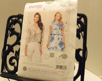 Burda Pattern Offenburg, Germany 6765 top, blouse Size Eur 36-48 US 10-20