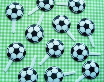 12 Soccer Cupcake Picks