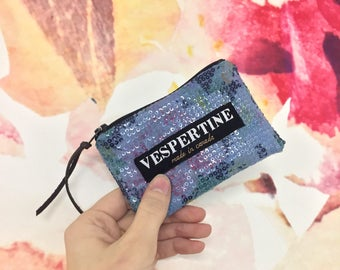 Mini Wallet / Zip Pouch / Bridesmaid Gift / Sequin Accessories / Sparkly Accessories / Modern Minimalist / Gifts for Her / Gifts under 25