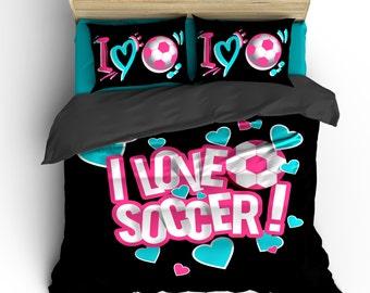 Soccer Bedding Etsy