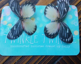 Whimsical Silk Butterfly Clips