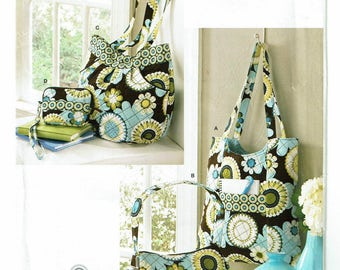 Simplicity 0580 4 Designer Bags for Double Faced Prequilted Fabric  New - Uncut