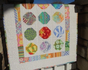 Quilted Baby Blanket...in Kaffe Fassett Pastels
