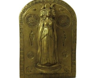Hecate's (Hekate's) Shrine - Wall Hanging-Handmade Pottery