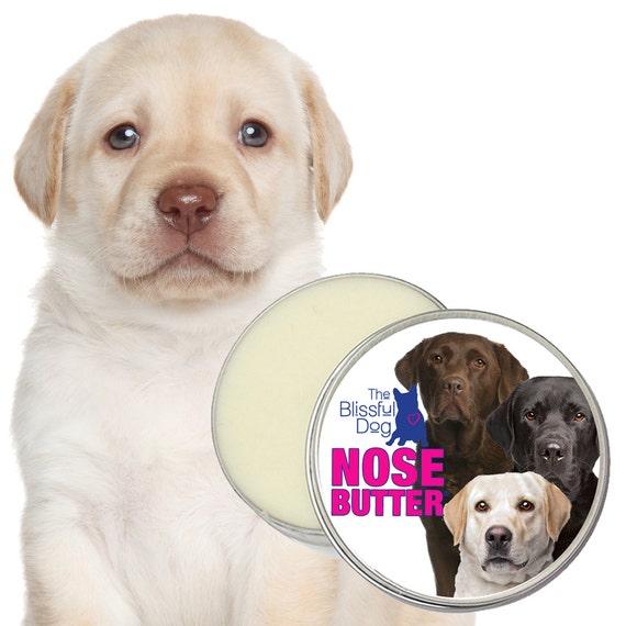 Labrador Retriever ORIGINAL NOSE BUTTER® Handcrafted Salve for Dry Dog Noses Choice: 1 oz, 2 oz or 4 oz Tin with Trio of Labs Label
