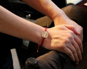 Sterling silver longevity charm bracelet
