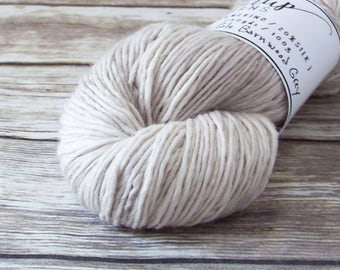 DK Yarn, Hand Dyed Alpaca/Merino/Silk Yarn, Hand Dyed Merino Yarn, Knitting Yarn, Handpainted, Double Knit Weight, Pale Barnwood Grey
