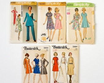 Shop Sale CLEARANCE Womens Size 18.5 Vintage 1960s 70s Sewing Pattern Lot / bust 41 waist 34-35 / Dresses, Tunic and Pants
