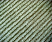 Mint Green Plush Diagonal Ribbing  Vintage Chenille Fabric 17 x 36 Inches