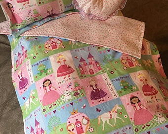 Handmade Princess bedding for your American Girl doll or any 18 inch doll