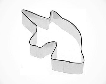 Smooth mane UNICORN head Cookie Cutter, Unicorn horse cookie cutter, Magical Princess Parties, fairytale cookie cutter