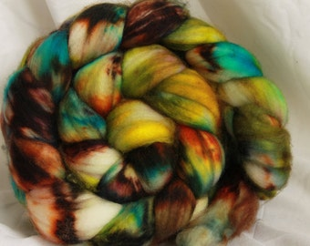 Super wash merino hand dyed combed top/ Roving  (4.3 oz) #14