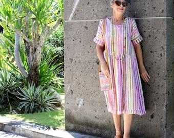 BATIK, Size 10-26, Made Smock Dress, Choice of Fabrics,  Rayon