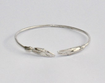 Crab Claw Cuff Bracelet in  Sterling Silver