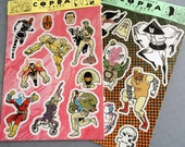 Copra Stickers - Combo Pack - Heroes & Villains Vinyl Sheets