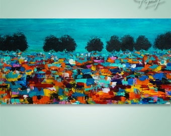 Abstract Painting, Tree Painting, Original Painting, Landscape Painting, Abstract Wall art, Wall Decor, home decor palette knife, modern art