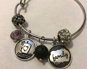 "Pretty Diffuser Charm Bracelets:  Chloe Collection - ""Lovely Mama"""