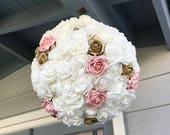 Wedding Pinata Guest Book Alternative Medium White Pink Gold
