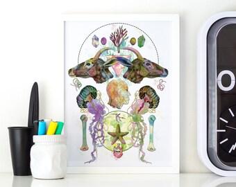 Limited Edition 'Meet My Maker #1' Fine Art Print - A3 29.7 x 42cm