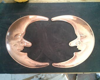 Hammered Copper Moons 7th Anniversary Gift