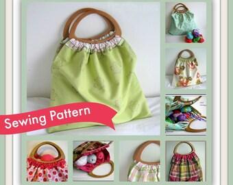 Reversible Craft Knitting Bag Sewing Pattern