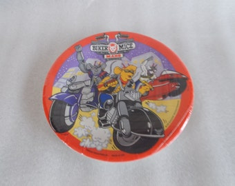 Vintage NOS Biker Mice From Mars Small Paper Plates