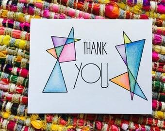 Geometric Thank You Card (blank)