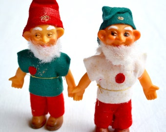 Vintage Christmas Gnomes - Moveable Heads and Arms - 2