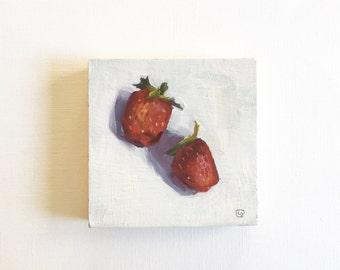 """SALE Duet • original 4 x 4"""" oil painting"""