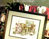 Memories Christmas Drum Train Doll Quilt Snowy Scene Paula Vaughn Counted Cross Stitch Embroidery Craft Pattern Leaflet Leisure Arts 904