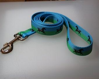 5 1/2 foot dog leash polyester 1 inch webbing running horse