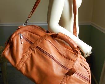 Travel Bag / Leather Duffle Bag / Hugh Weekender Bag / Overnight Bag