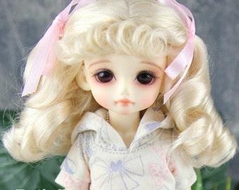 """Fatiao - New Dolls Wig Dollfie Yo-SD 1/6 BJD 6-7"""" size - Blonde"""