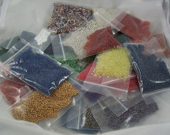 Destash!  Seed Bead Lot Assorted Color Glass Seed Beads by ceeceedesigns on etsy