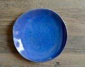 Ceramic Serving Plate,  Coffee plate,  Blue Plate , Cheese plate, Tableware,  cheese platter cup cake cake plate