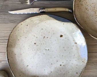 Ceramic Dinnerware Set, Handmade ceramics, Modern Dinnerware set, black and gray,  Ceramic plates, Ceramic Bowl, Ceramic Pottery
