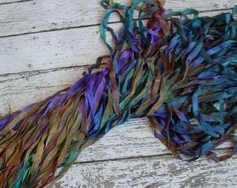 Hand Dyed Ribbon - NeW - PIXIE quarter inch wide ribbon, 5 yards