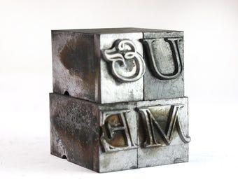 U & ME - 36pt Vintage Metal Letterpress